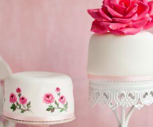 cake, rose, and cute image