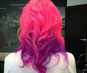 pink hair and purple hair image