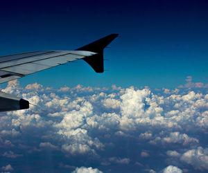 blue sky, sky, and clouds image