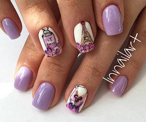 nail art, nails, and paris image