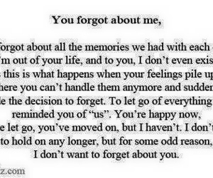 quote, quotes, and forgot me image