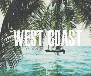 summer, west coast, and beach image