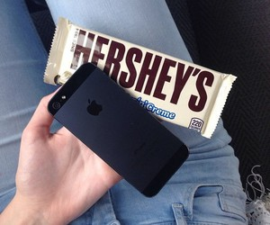 iphone, black, and chocolate image