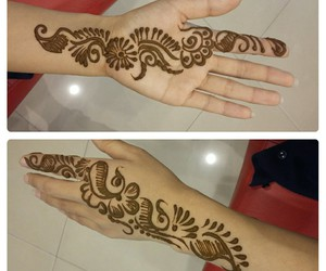 asian, henna, and Tattoos image