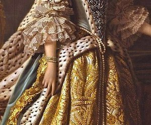 dress, golden, and lady image