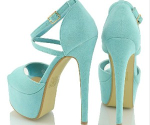 beautiful, high heels, and mint image