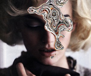 blonde, mixed, and swirl image