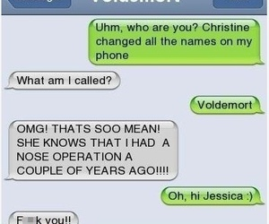 voldemort, funny, and text image