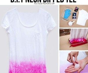 diy, pink, and shirt image