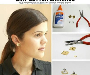 diy, earrings, and buttons image