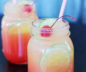 drink, summer, and cherry image