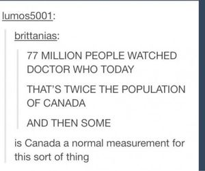 canada, doctor who, and tumblr image