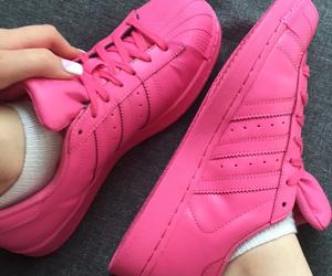 adidas, pink, and superstars image