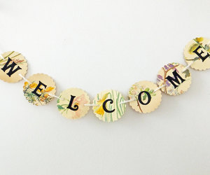 welcome banner, welcome bunting, and welcome garland image