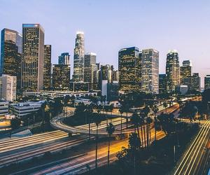 city, lights, and Miami image