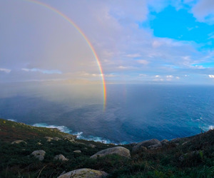 ocean, rainbow, and amazing image