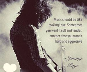 music, jimmy page, and quote image
