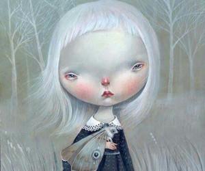 art, girl, and rosy cheeks image