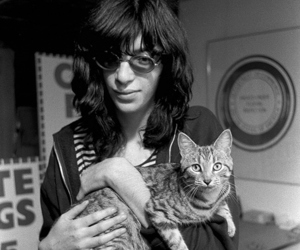 joey ramone, cat, and ramones image