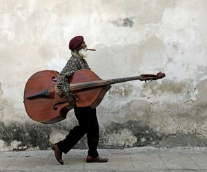 music, cello, and man image