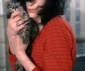 cat, joey ramone, and ramones image