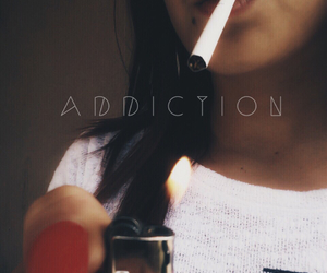 addiction, cigarette, and fire image