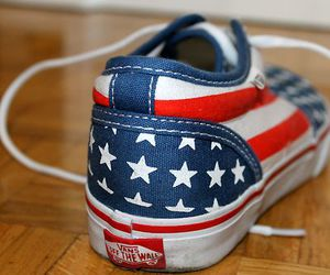 american, fashion, and vans image