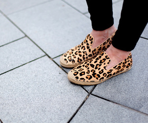 fashion, shoes, and animal print image
