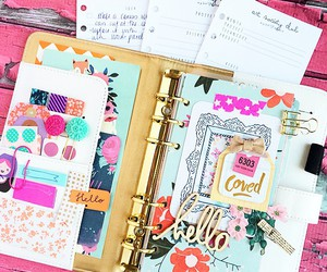 girly, organized, and pink image