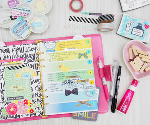 agenda, beautiful, and planner image