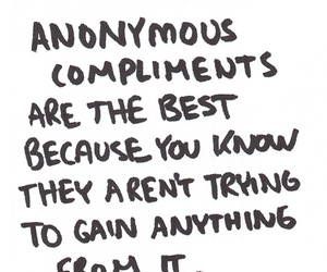 quote, compliments, and anonymous image