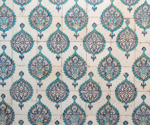 blue, art, and tiles image