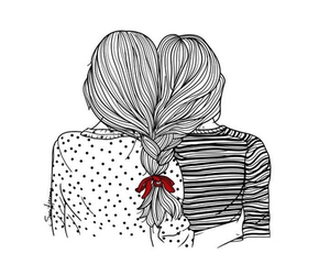 friends, hair, and art image