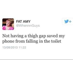 phone, thigh gap, and fat image