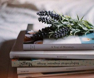 books and lavender image