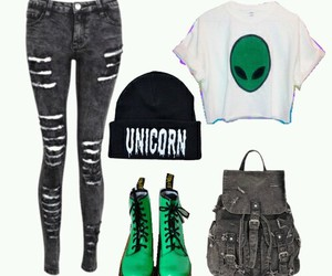 alien, outfit, and fashion image
