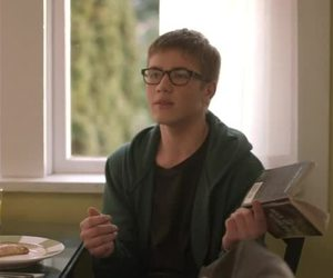 book, connor jessup, and glasses image
