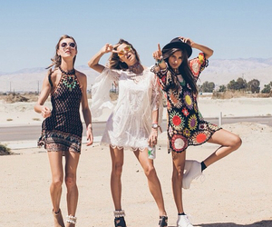 girl, coachella, and outfit image
