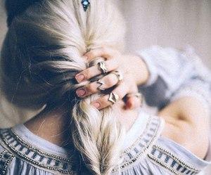 hair, indie, and rings image