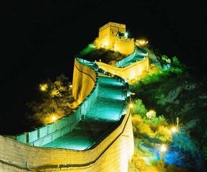 asia, beautiful, and great wall of china image