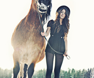 fashion, horse, and girl image