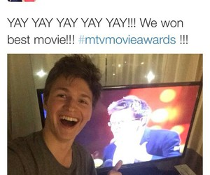 john green, mtv, and mtv movie awards image