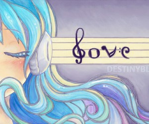 music, love, and blue image
