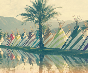 art direction, camping, and coachella image