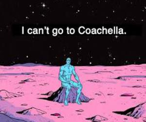 coachella, sad, and music image