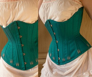 corset, emerald, and green image