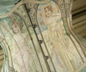 alphonse mucha and corset image