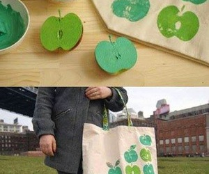 diy, apple, and bag image