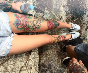 legs, shorts, and woman image