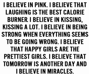 quote, happy, and pink image